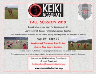 Fall Session: August 19 - September 19, 2019