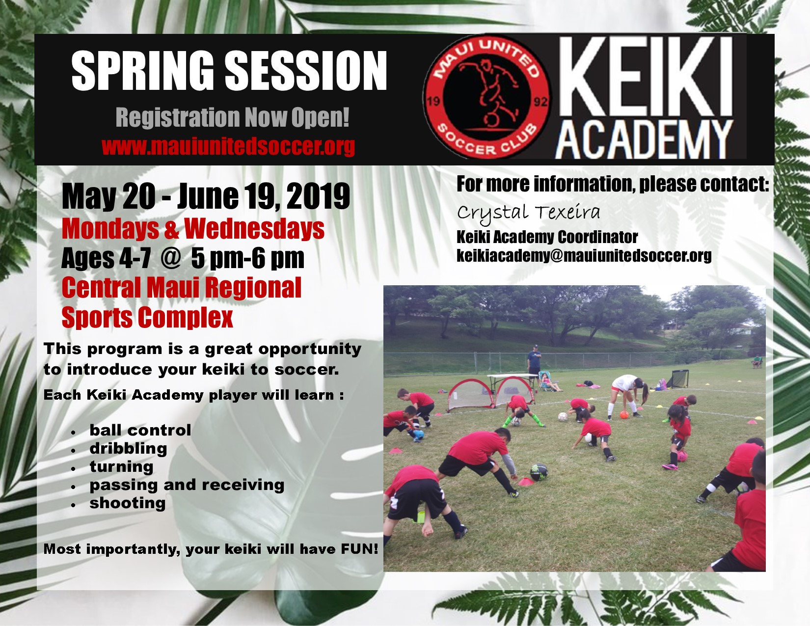Summer Session May 20 - June 19, 2019